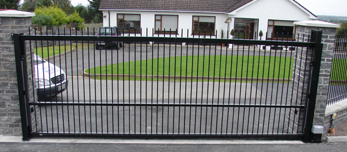 Commercial security entrance gates avs